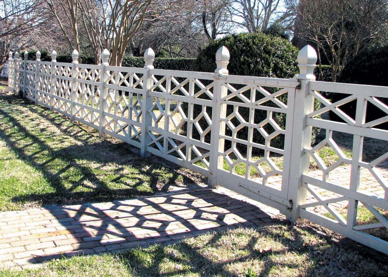 One of the many fence faces evident in Colonial Williamsburg is this Chinese Chippendale.