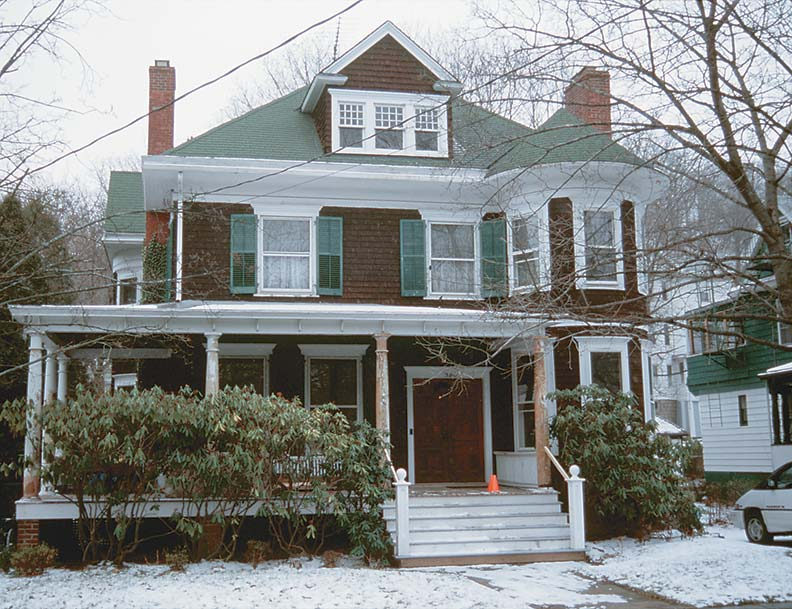 """Tony notes that architecturally, the house is """"part Colonial Revival, part Queen Anne, and part eBay."""""""