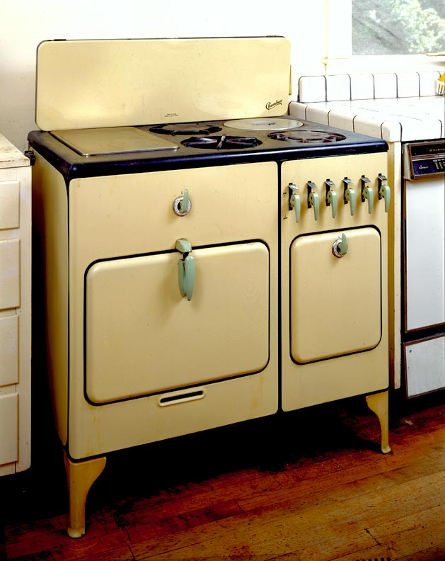 Sometimes pricey, restored vintage appliances make an ideal kitchen focal point.