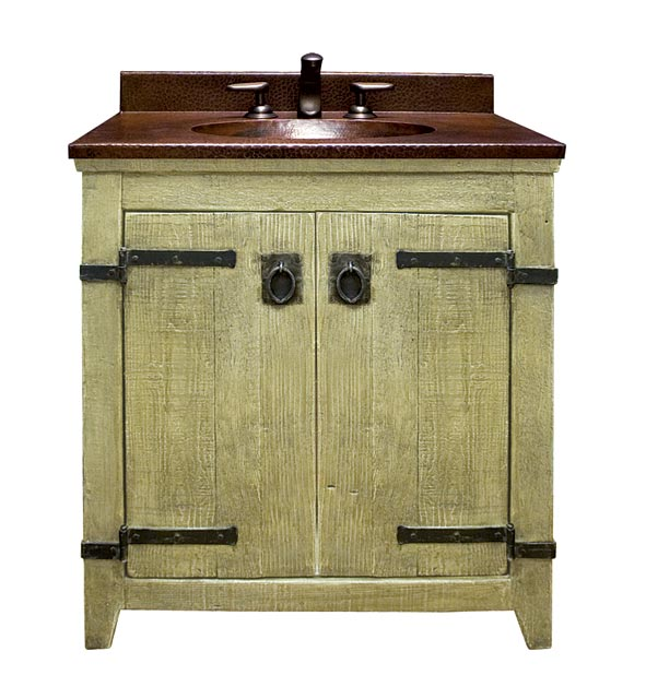 Old World Vanity (in Olive) with Sedona top, Native Trails.