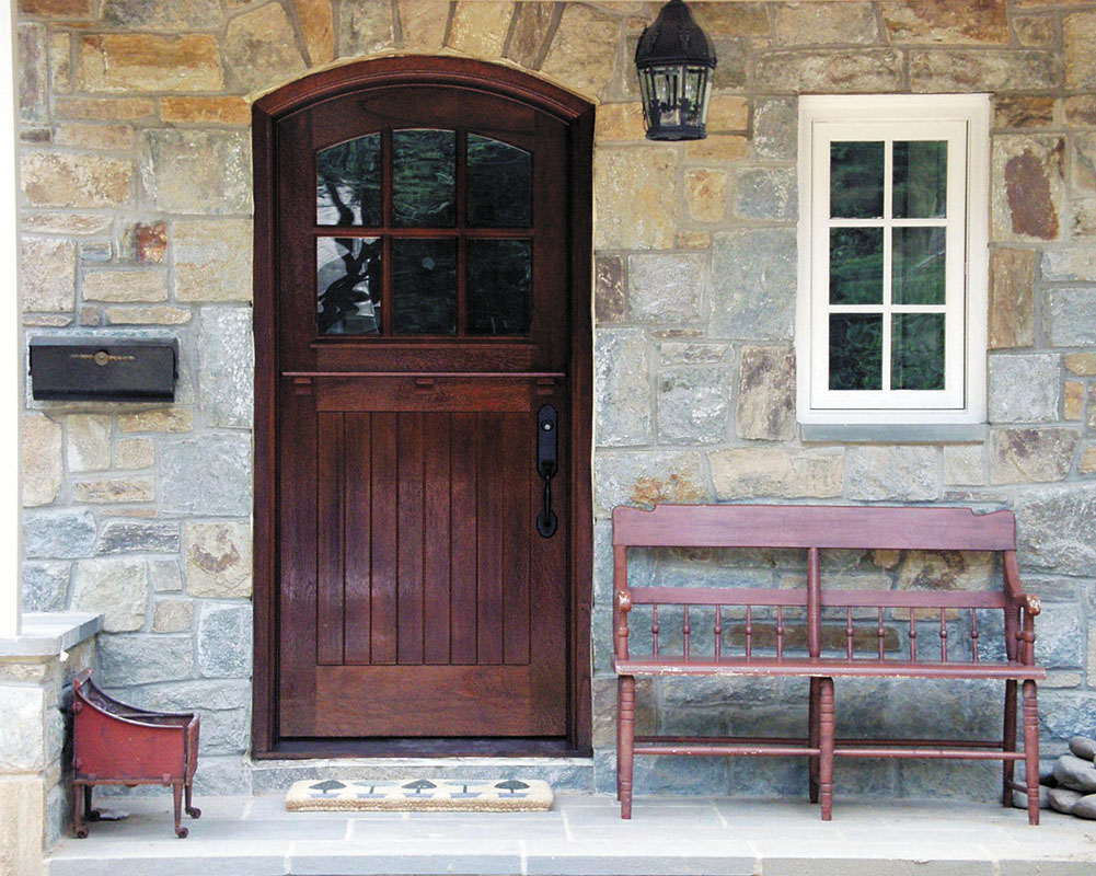 Historic Doors created this Dutch door for a stone house in Pennsylvania. (Photo courtesy of Historic Doors)