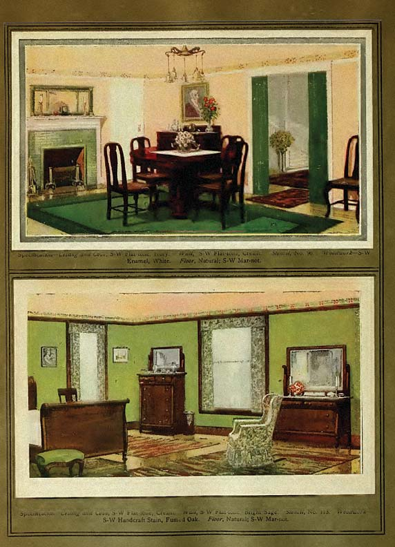 A 1908 Sherwin-Williams catalog gives ideas not only for paint colors, but also period furnishings.