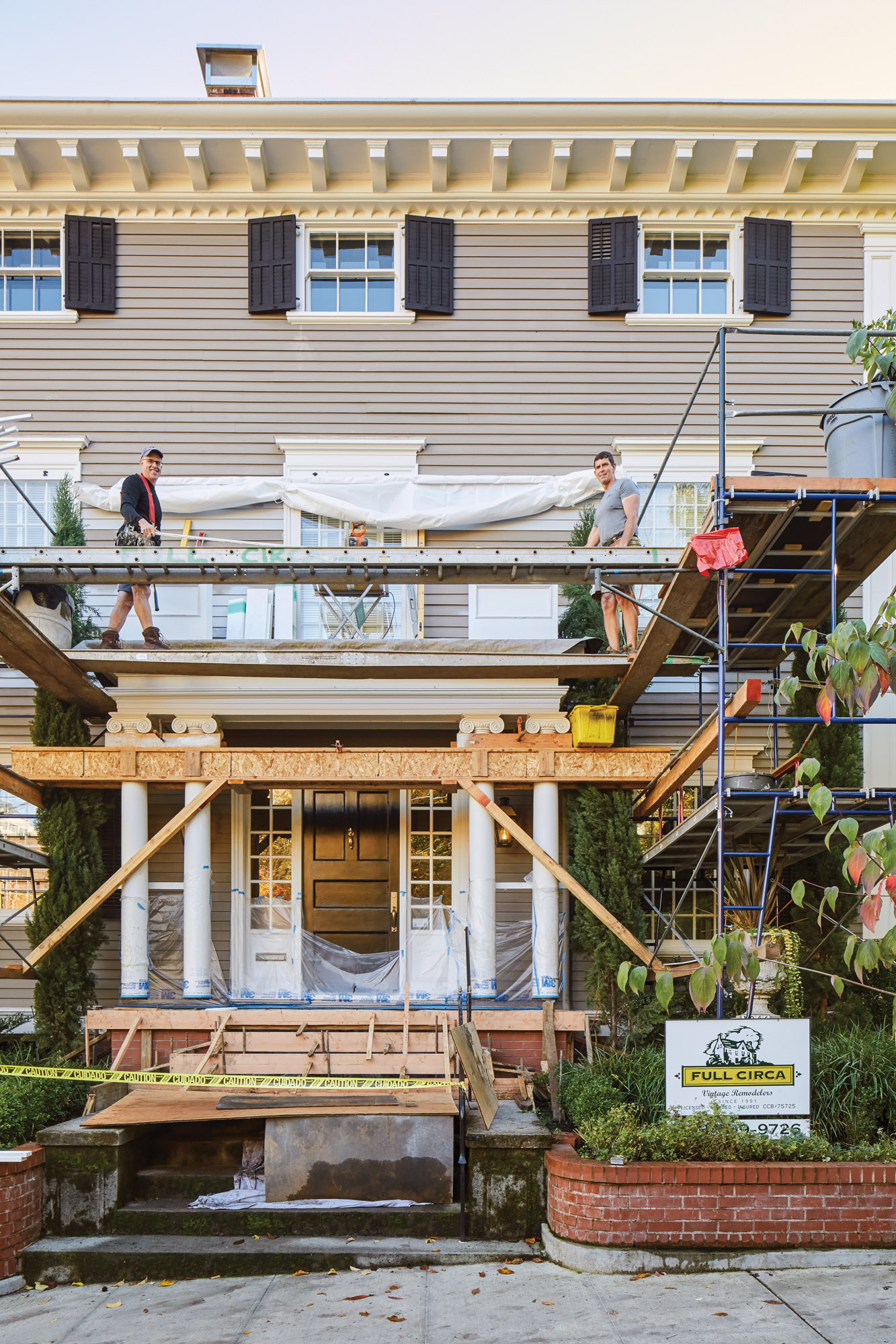 Full Circa porch roof repair