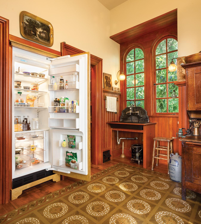 hidden appliance, hidden icebox