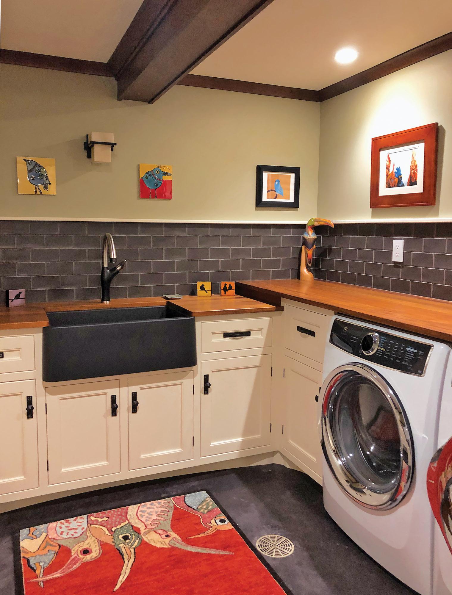 Laundry room, Motawi tileworks