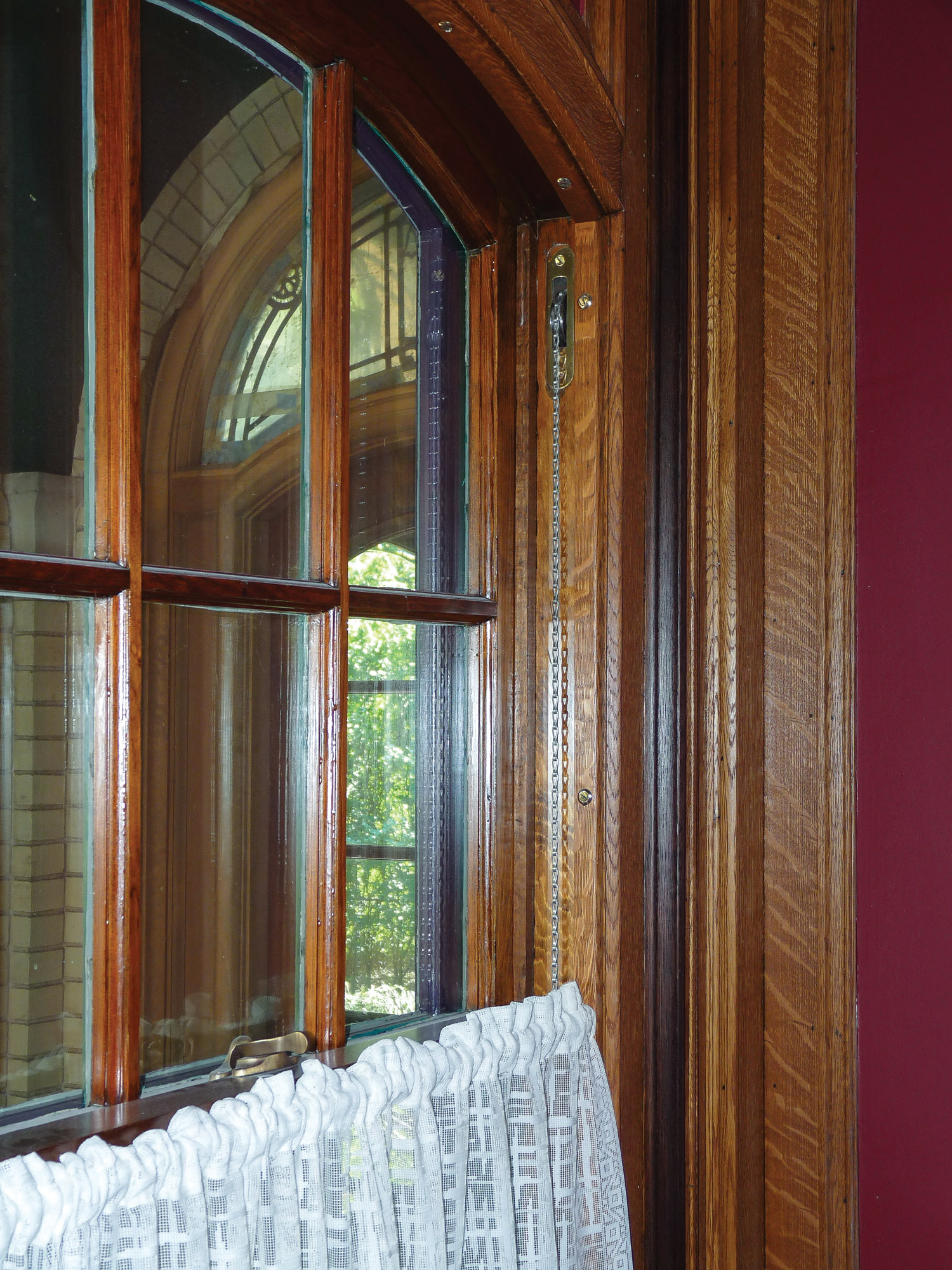 restored wood window