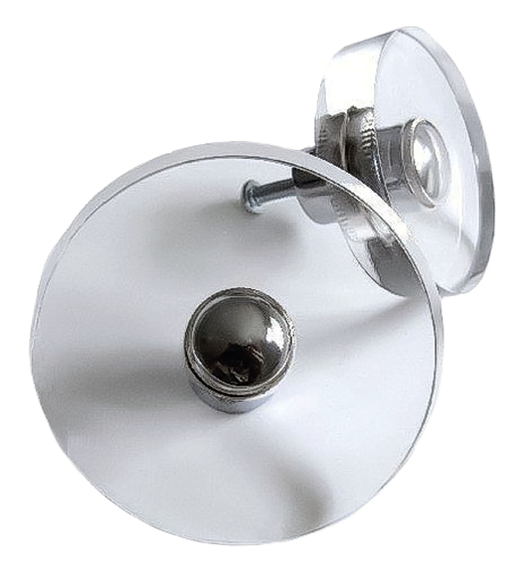 see-through Lucite disc knobs