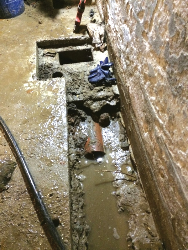 Waterproofing a basement