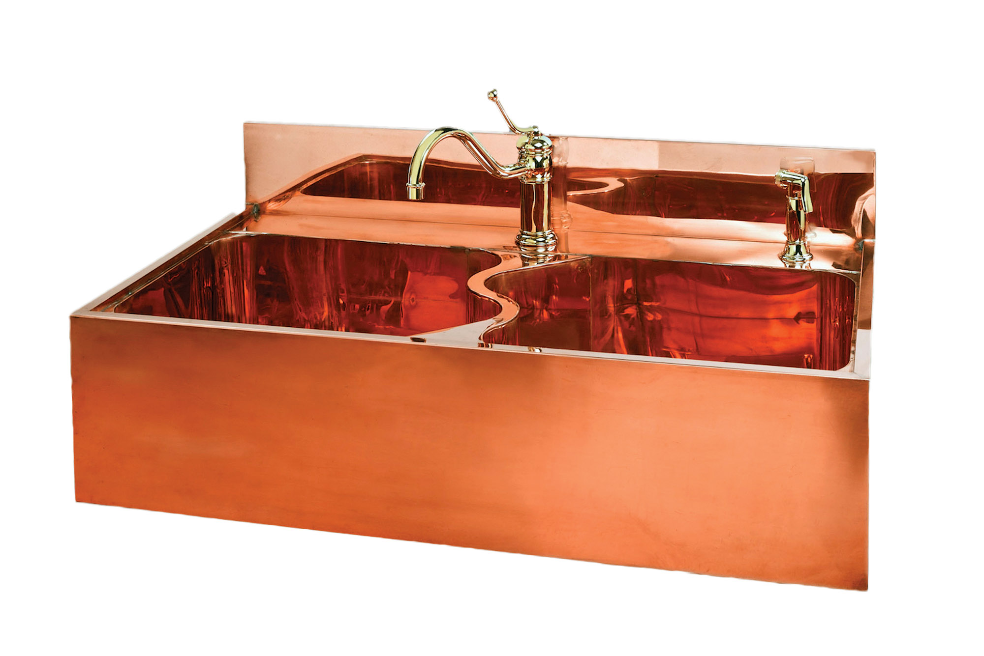 Copper sink by German Silver Sink Co.
