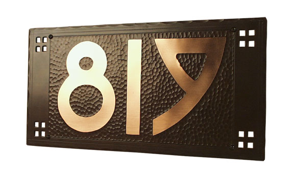 Pacific house numbers by Craftsmen Hardware
