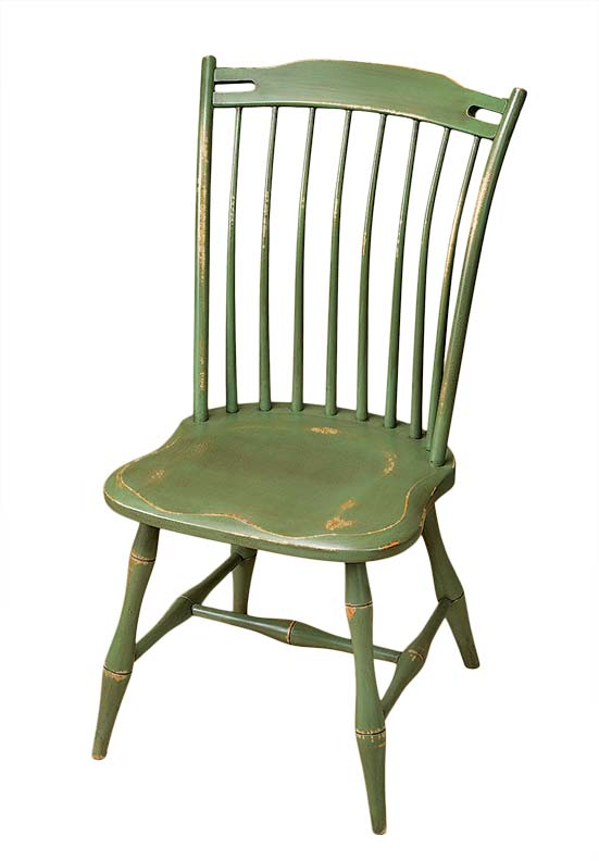 Painted Beauport thumb-back side chair from Great Windsor Chairs