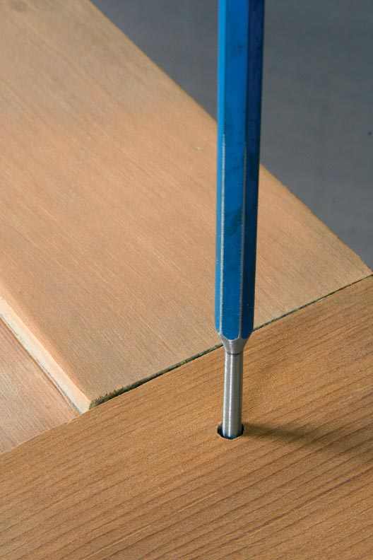 Use a pin punch with a slightly smaller diameter to drive out pegs.