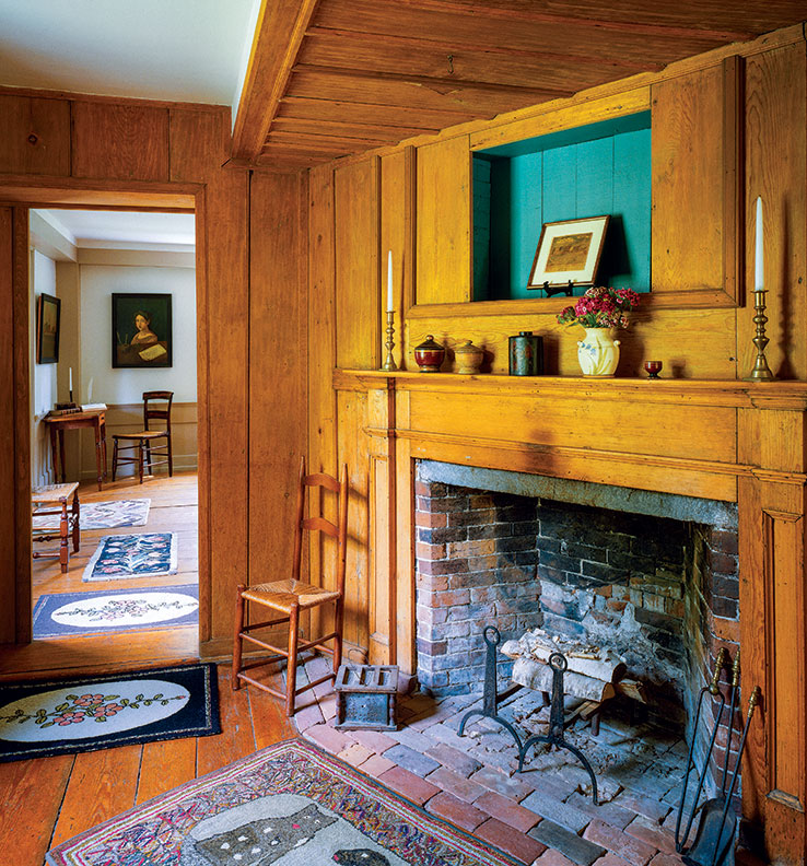 A view of the parson's study with the parlor beyond.