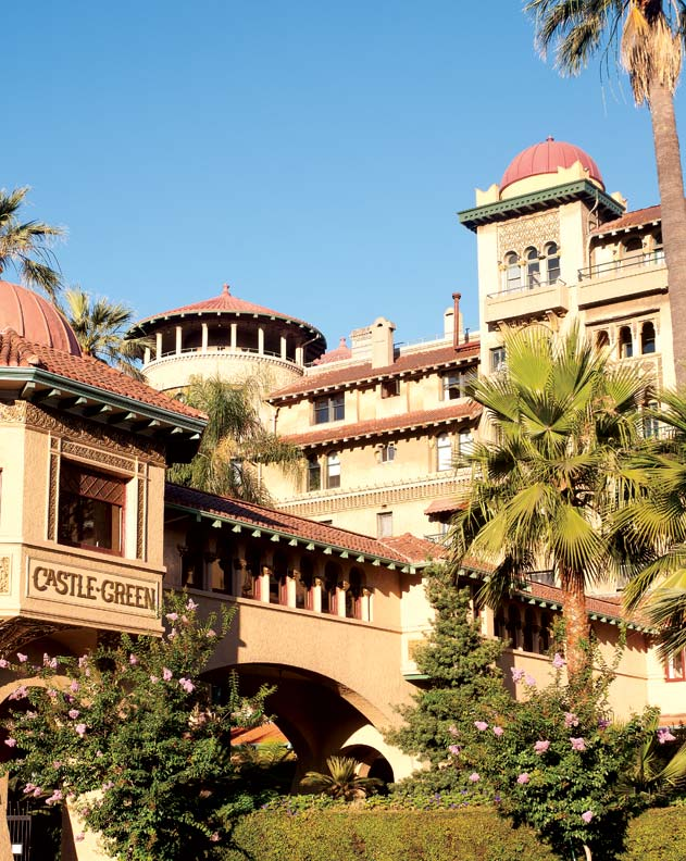 The eclectic Castle Green mixes Moorish, Spanish, and Victorian styles.