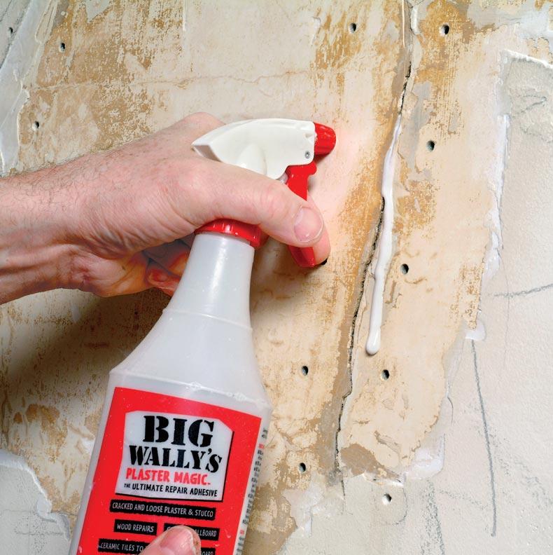 Spray conditioner into the holes