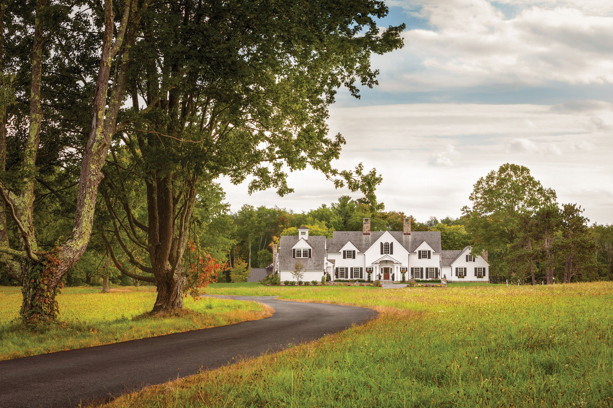 New England Colonial Revival Farmhouse