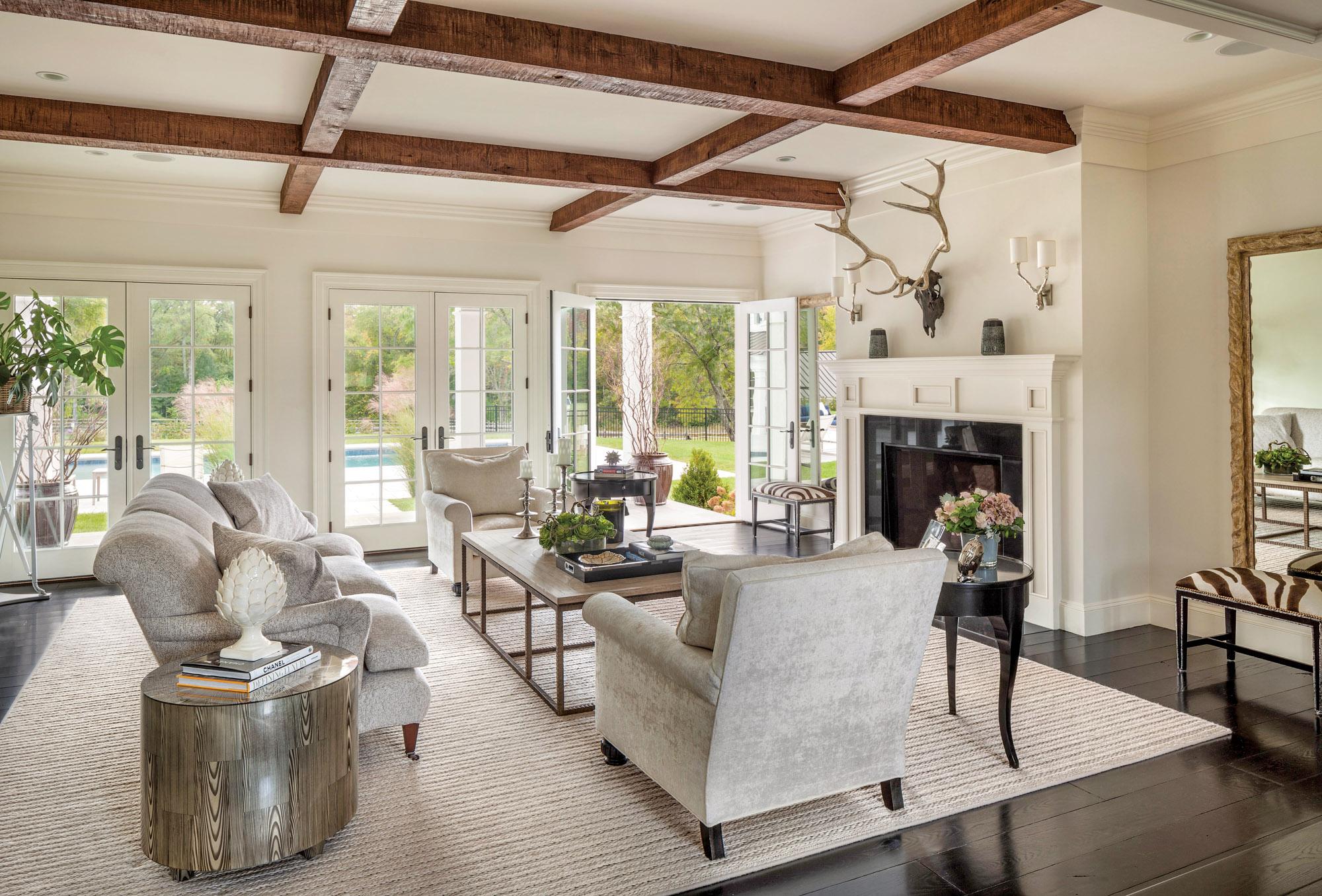 colonial revival farmhouse living room