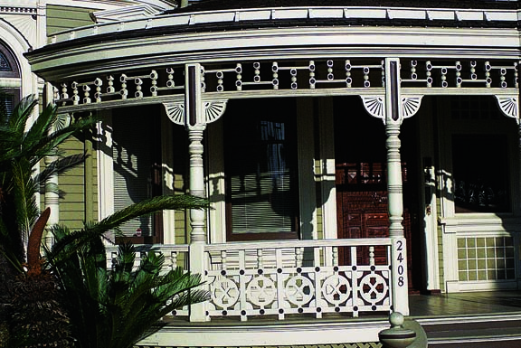 Steamboat Gothic porch ornamentation
