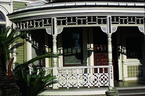 Steamboat Gothic porch ornamentation