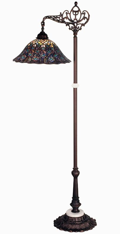 Peacock Feather lamp by Meyda