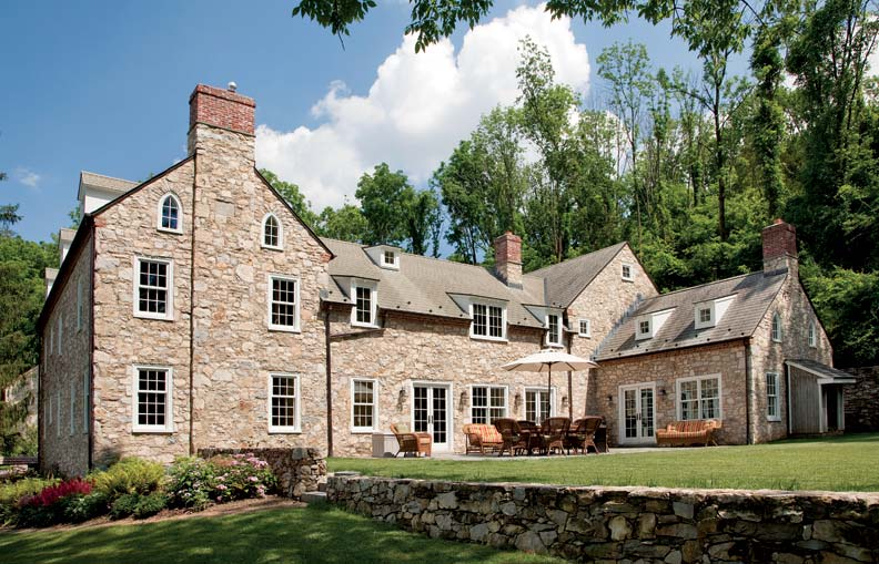 The English-style stone house is a work of art and craftsmanship.
