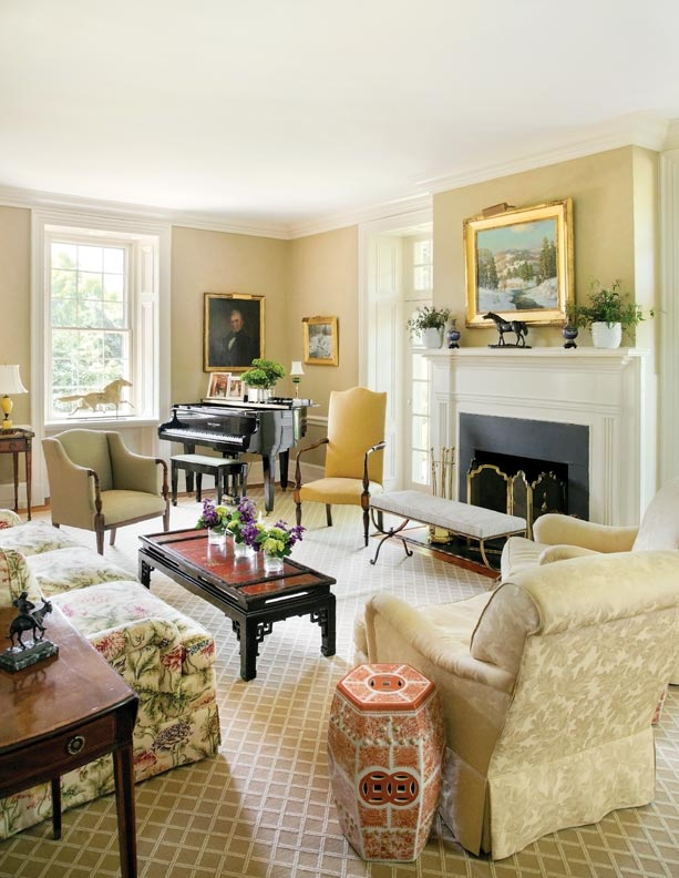 Peter and Eliza Zimmerman have created classic interiors throughout their home.