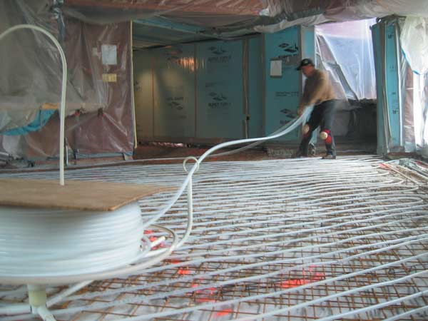 PEX tubing now replaces a lot of the old radiant systems. (Photo: Tarantino Architect)