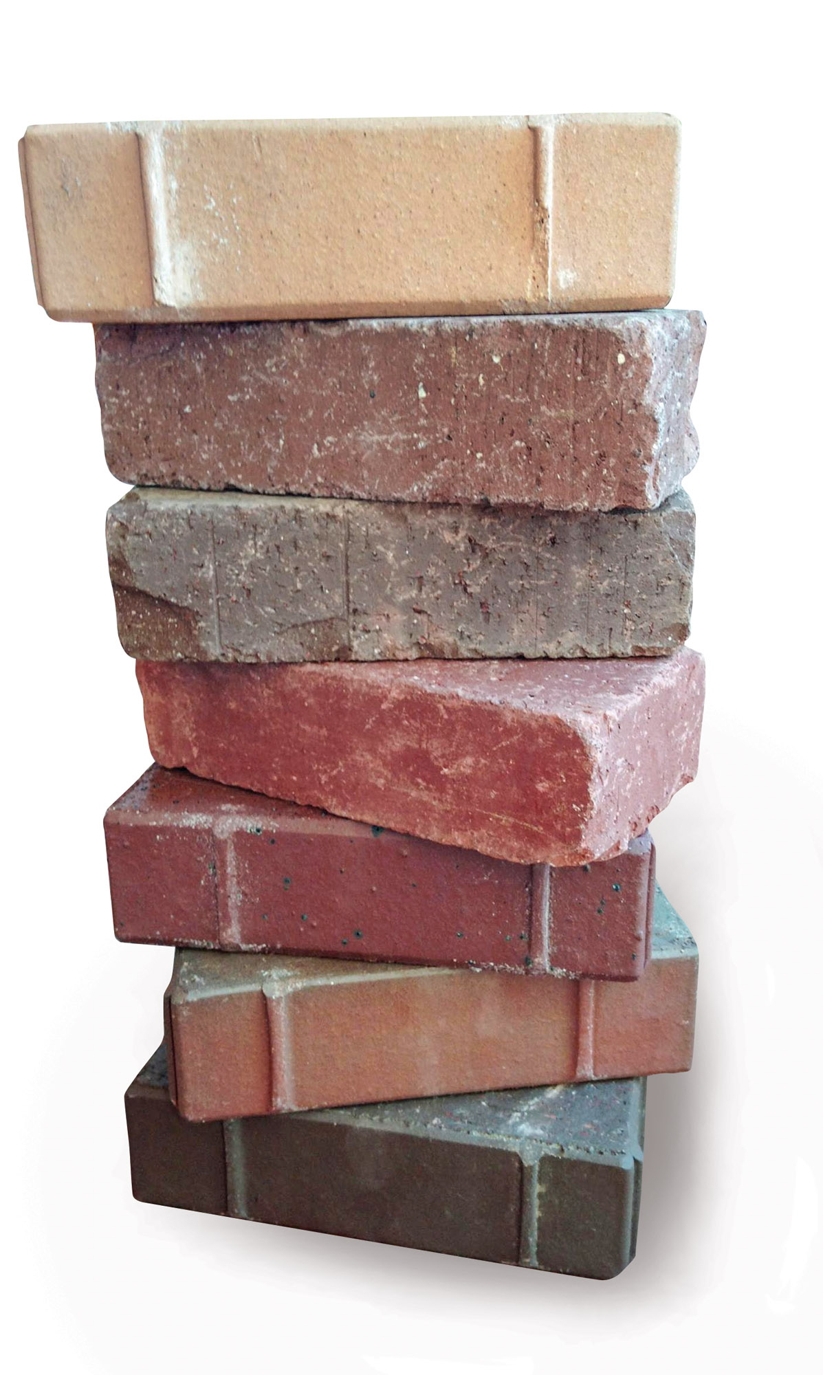Paving bricks from Pine Hall Brick come in a wide variety of colors.