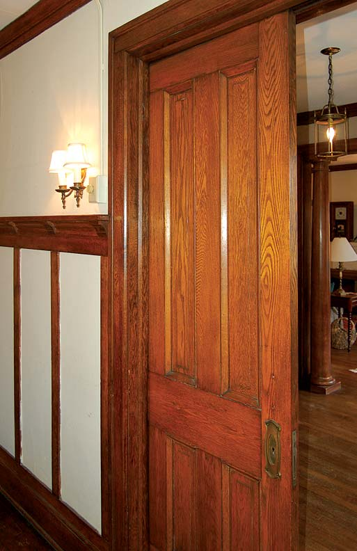 Pocket doors make an elegant, versatile statement that is unique to old houses.