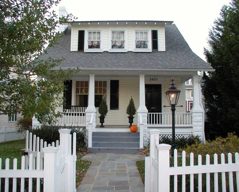 Bungalows typically feature deep porches—a relic of an era when sitting on the porch constituted an evening's entertainment.