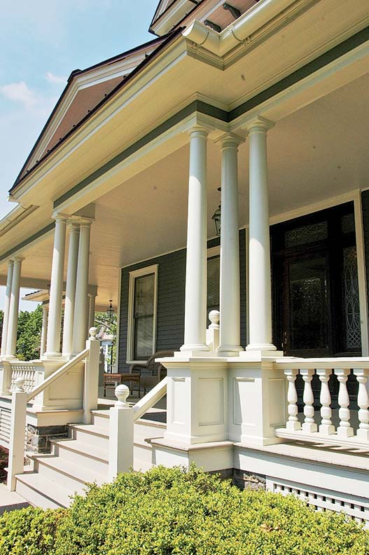 Porch components from Intex Millwork Solutions can be cut and configured to historically authentic proportions.