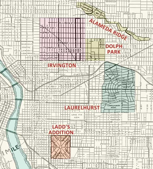 Portland eastside neighborhoods