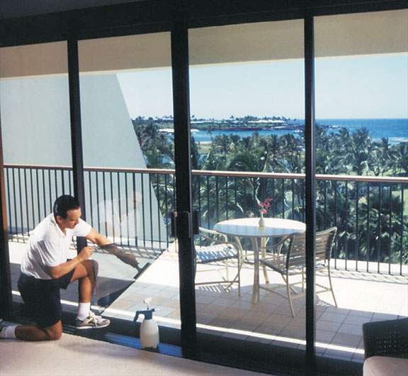 Modern UV films are best applied by professionals, especially to large expanses of glass.