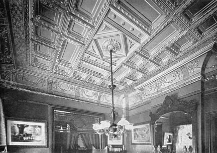 Decorative metal ceilings were first used in formal parlors and living rooms as an economical alternative to decorative plaster. (Photo: Michael Jackson archives)