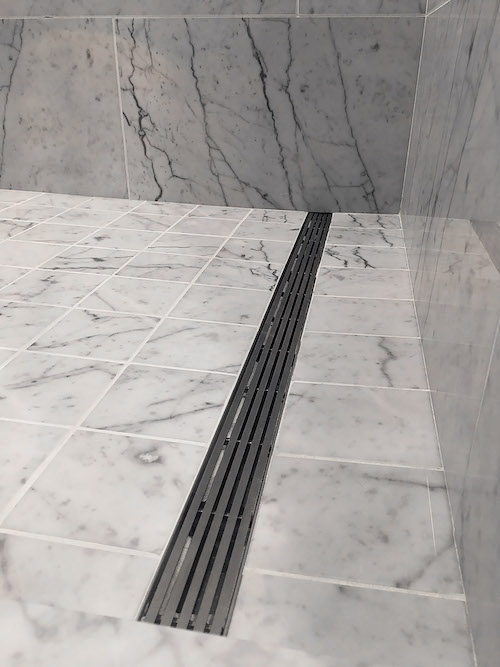 The ProLine stainless-steel shower drain