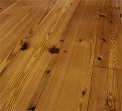Reclaimed heart pine flooring (Carlisle Wide Plank Floors)