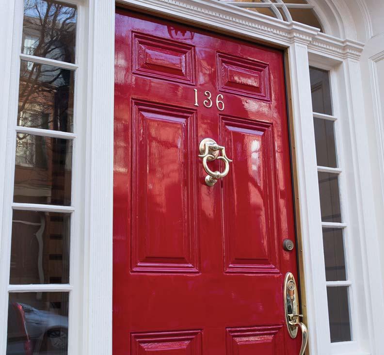 Mirror-finish entry door