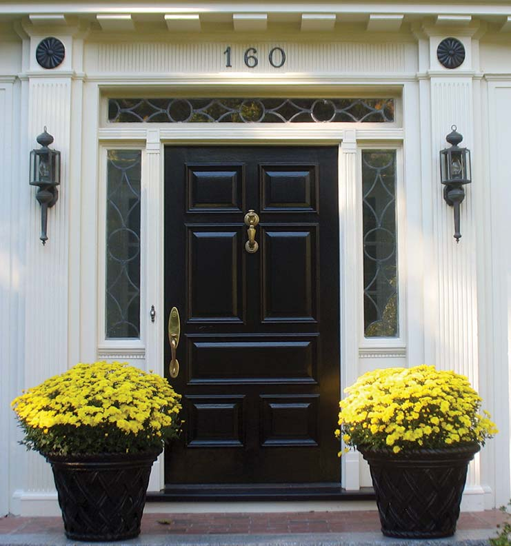 Painted entry door