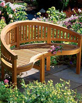 Reflection Bench from Gardener's Supply Company, (888) 833-1412; gardeners.com