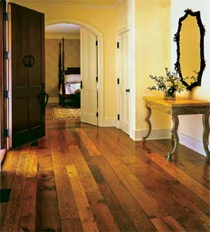 Remilled chestnut flooring, popular in some regions and no longer available as new growth (Chestnut Specialists)