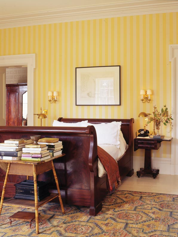 Removing interior walls allowed the master bedroom to return to its original proportions.
