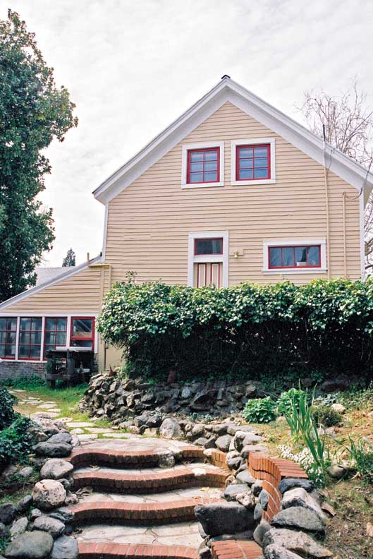 Renovations on the carriage house began once the large projects on the main house were complete.