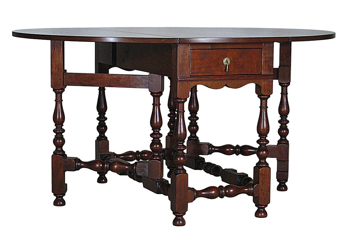 Reproduction gateleg table (Photo courtesy of Chazen Museum of Art)