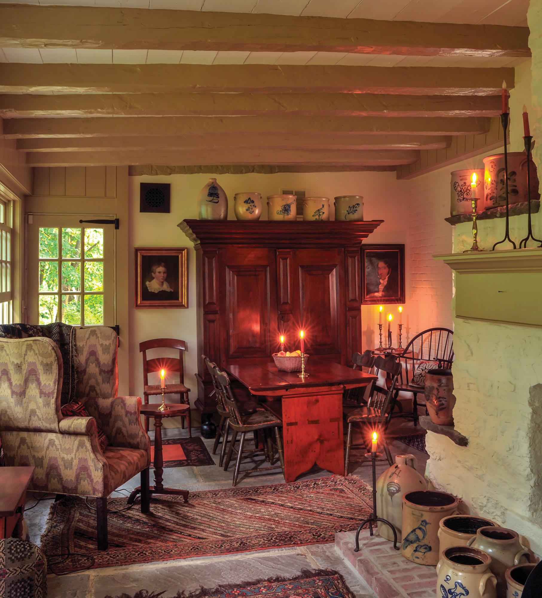 Colonial-era dining room