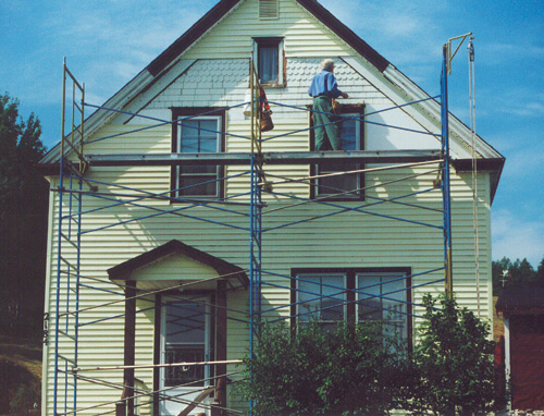 Restoring exterior paint and woodwork