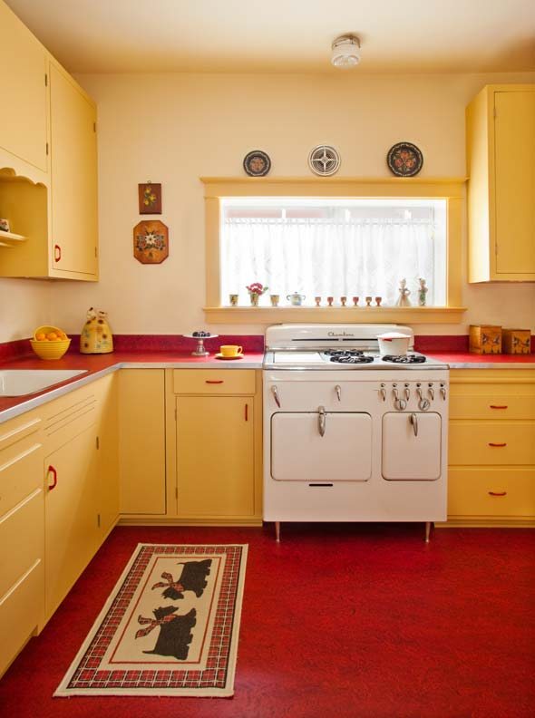 Designing a retro 1940s kitchen old house restoration for House kitchen cabinets
