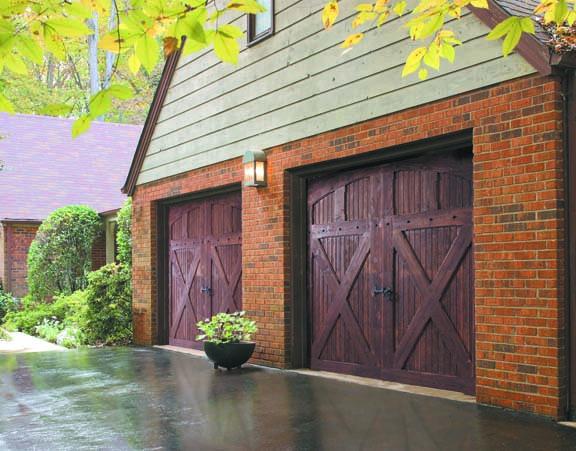 Cross-buck garage doors by Amarr
