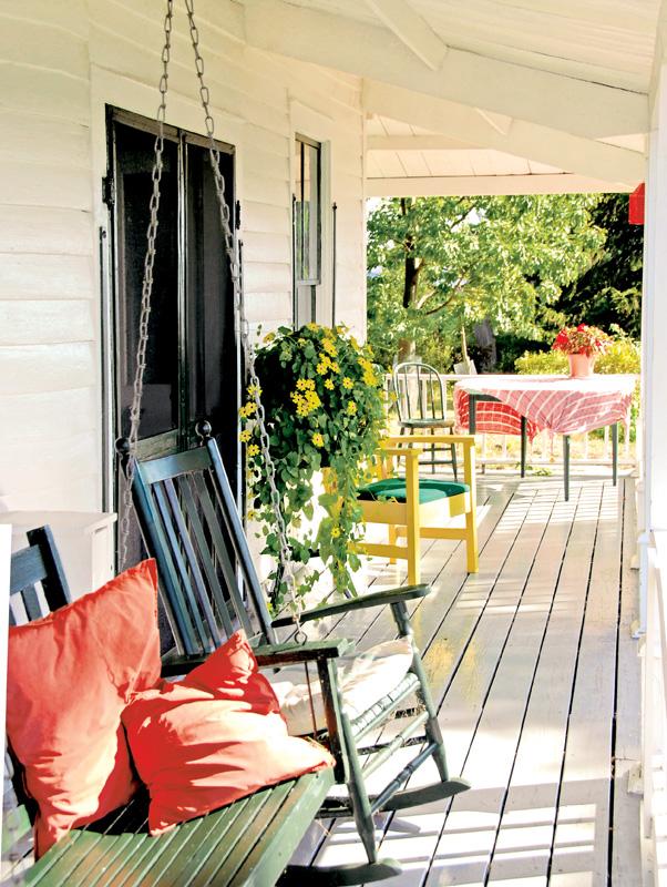 porch of a cottage