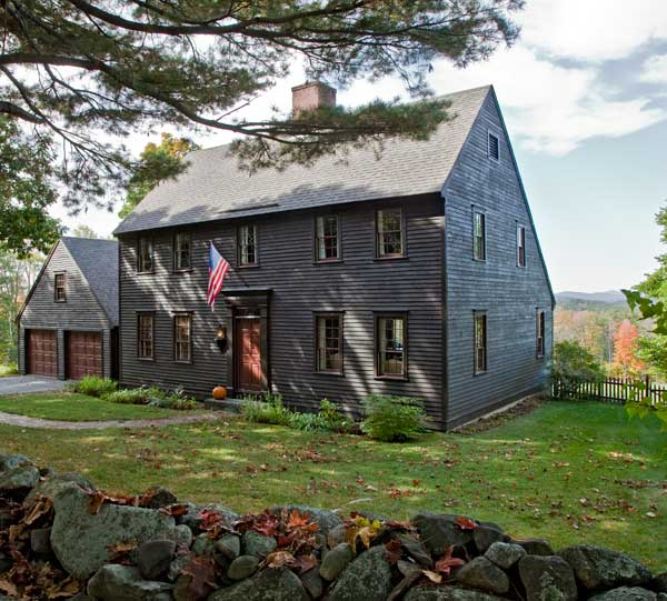 Life in a reproduction saltbox restoration design for for Modern saltbox house