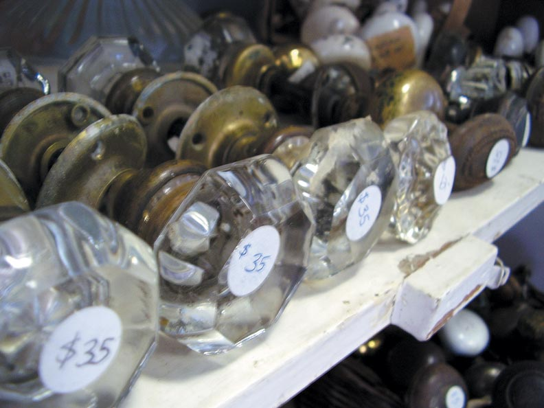 Nonprofit stores like Architectural Salvage of Greensboro, whose proceeds typically benefit local preservation efforts, often have the best prices.